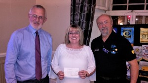 President Trevor Brown, Pam Jennings and Rtn. Alex Cooke