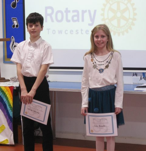 William Tollervey and Isla Booth - solo winners